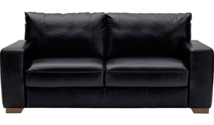 Buy Argos Home Eton 3 Seater Leather Sofa - Black   Sofas   Argos