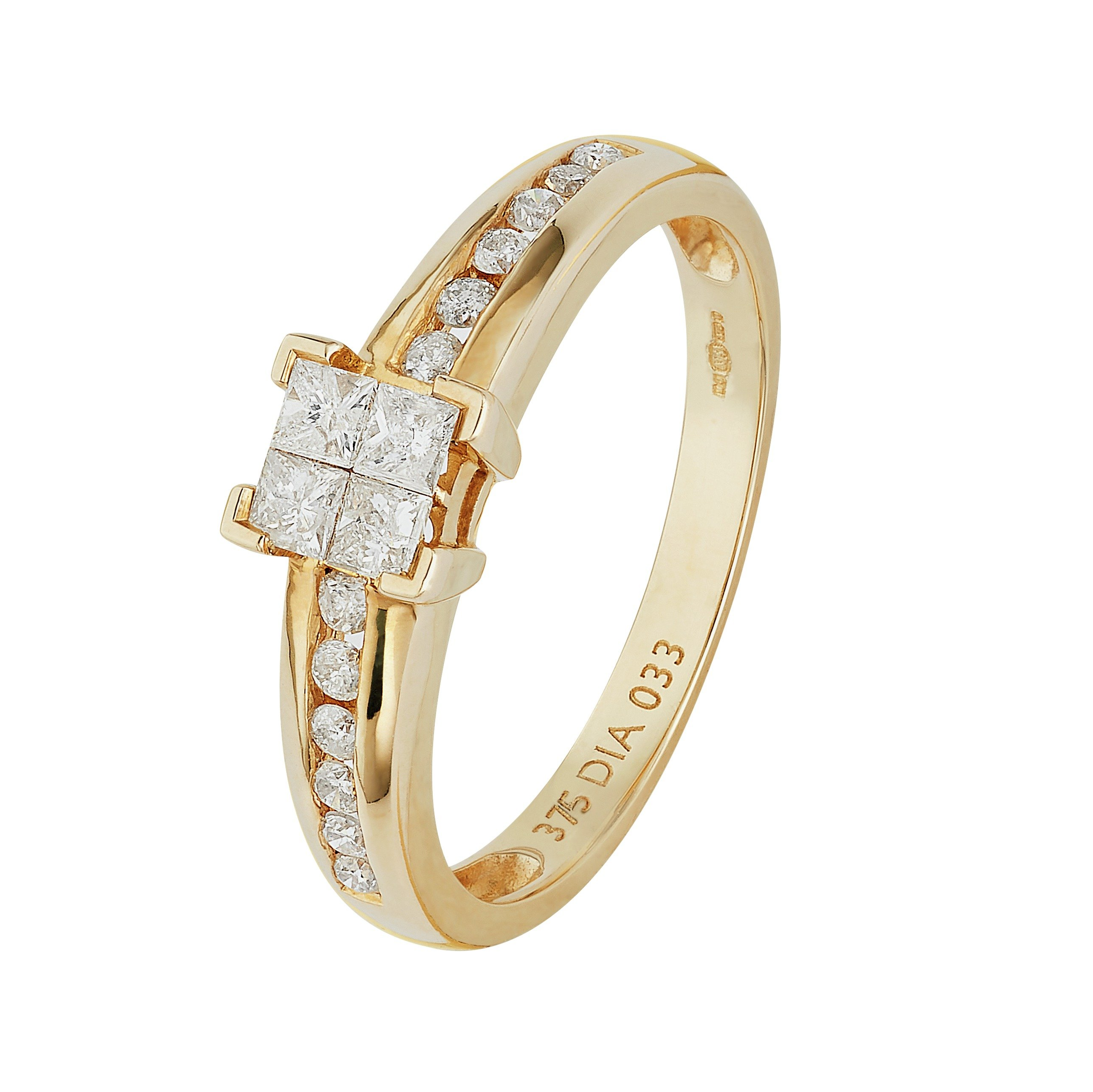 Buy Revere 9ct Gold 0 33ct tw Diamond Set Shoulder Ring at Argos