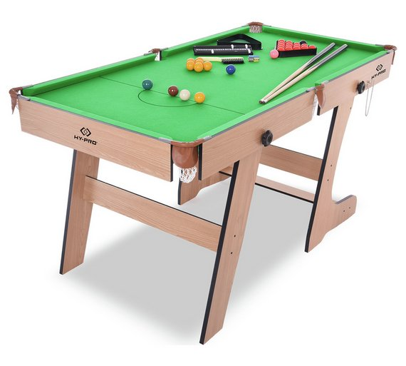 Buy HyPro Ft Folding Snooker And Pool Table Snooker Tables Argos - Snooker table vs pool table