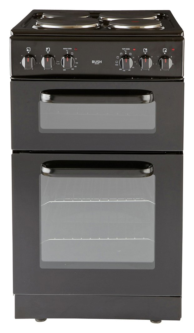 Bush - BED50B Double - Electric Cooker - Black