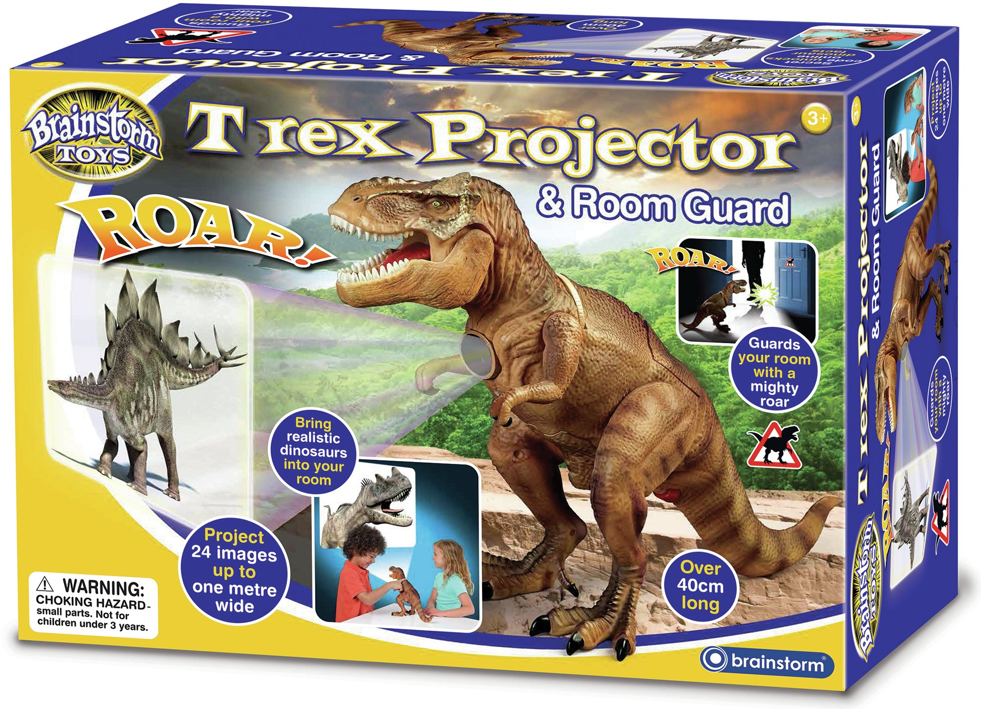 Image of Brainstorm Toys T-Rex Projector and Room Guard.