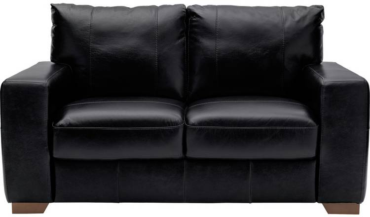 Buy Argos Home Eton 2 Seater Leather Sofa - Black | Sofas | Argos