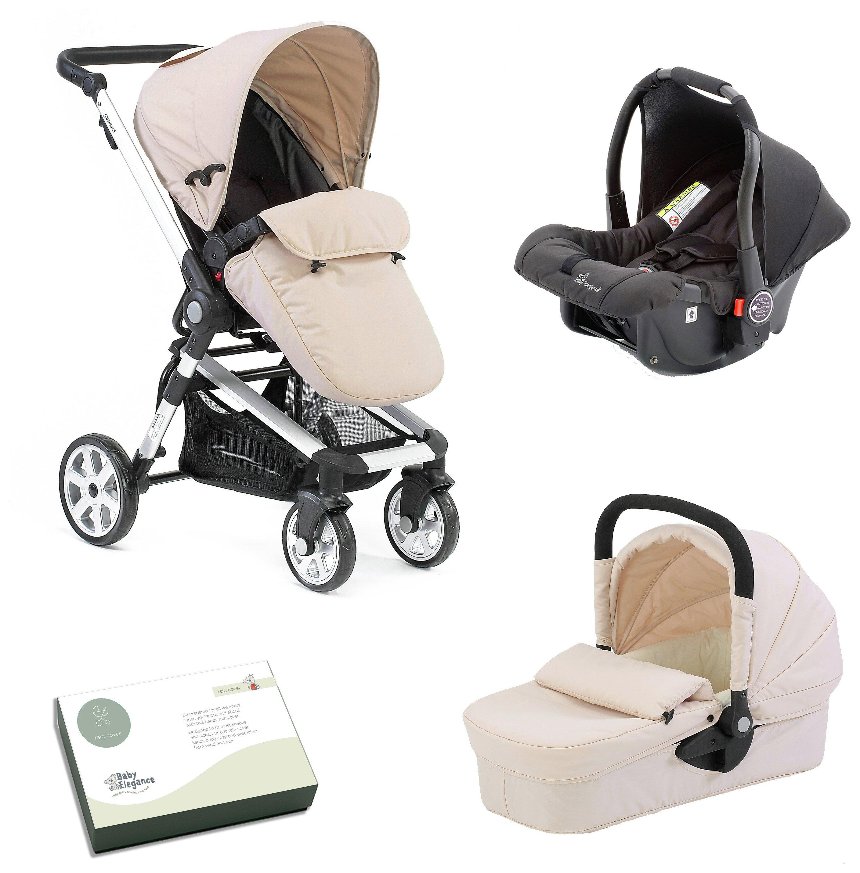 Image of Baby Elegance Beep Twist Travel System - Cream.