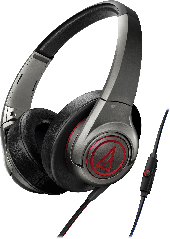 Audio Technica - AX5iS Over-Ear Headphones - Red/Grey