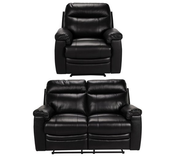 Buy Argos Home Paolo Chair 2 Seater Manual Recline Sofa Black