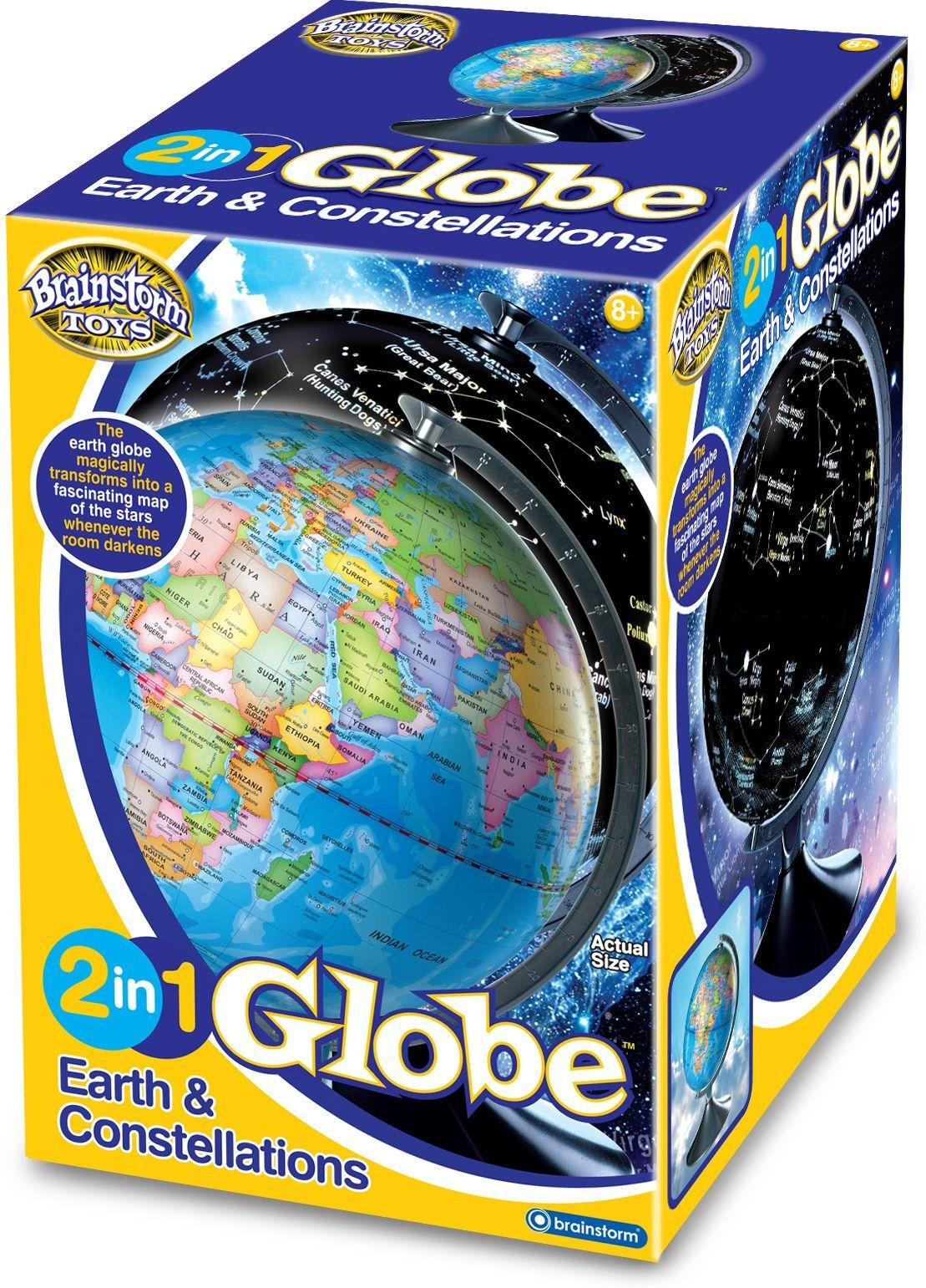 Image of Brainstorm Toys 2 in 1 Globe Earth and Constellations.