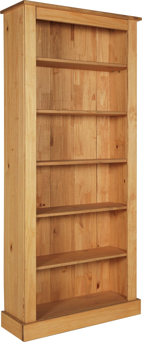 Argos Home 5 Shelf Pine Tall Wide Extra Deep Solid Bookcase