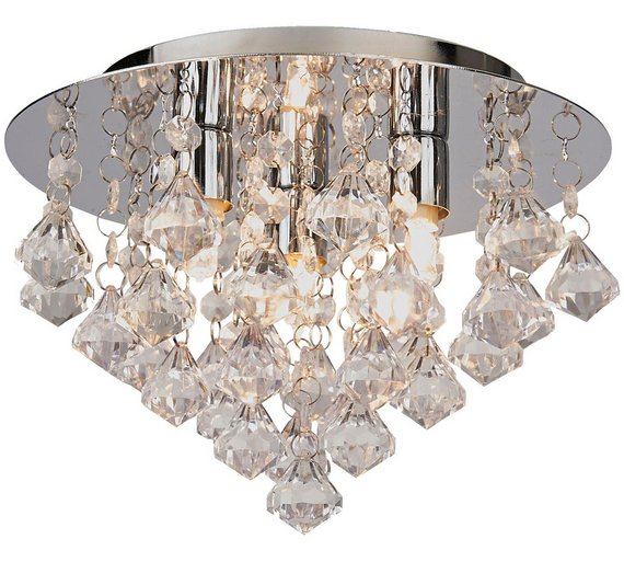 Ceiling Lights Argos: HOME Eve 3 Light Ceiling Fitting - Clear228/6626,Lighting