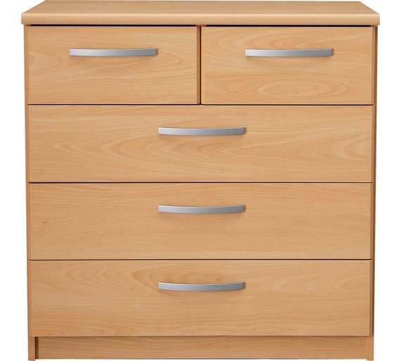 Buy Collection New Hallingford 3 2 Drawer Chest Beech Effect At Your Online Shop