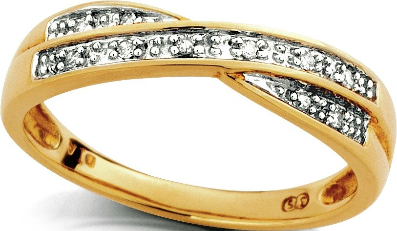 Buy Revere 9ct Gold Diamond Accent Crossover Eternity Ring at