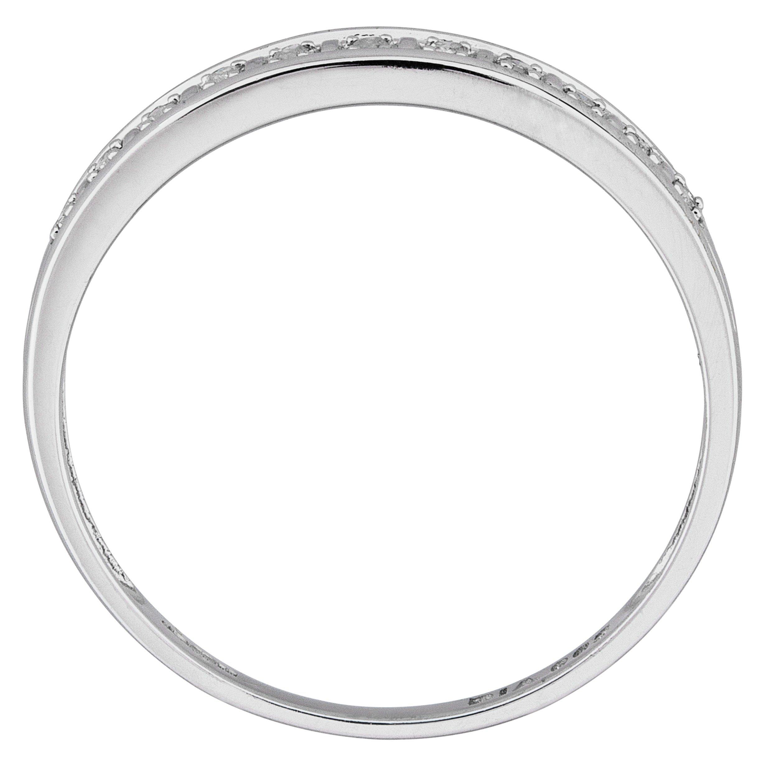 Buy Revere 9ct White Gold Diamond Accent Eternity Ring at Argos