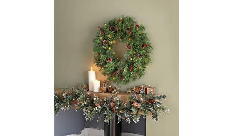 Buy Argos Home 152 4cm Berry And Pine Cone Christmas Garland Christmas Novelty Decorations Argos