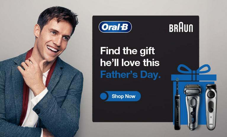 Find the gift he'll love this Father's Day with Oral B.