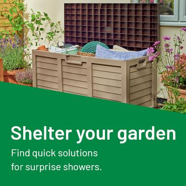 Shelter your garden. Find quick solutions for surprise showers.