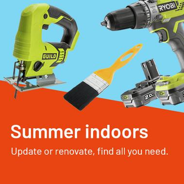 Summer indoors - update or renovate, find all you need.
