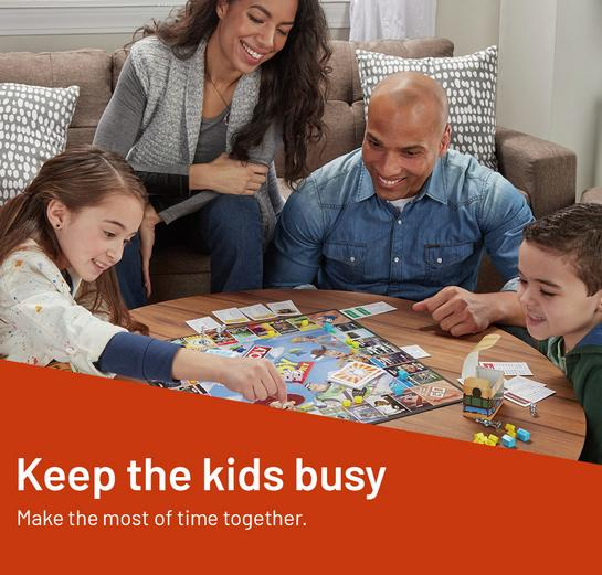 Keep the kids busy and make the most of time together.