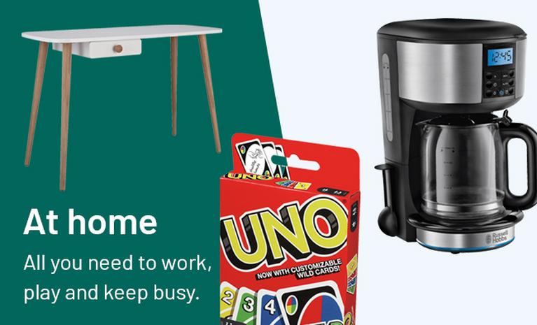 At home - all you need to work, play and keep busy.