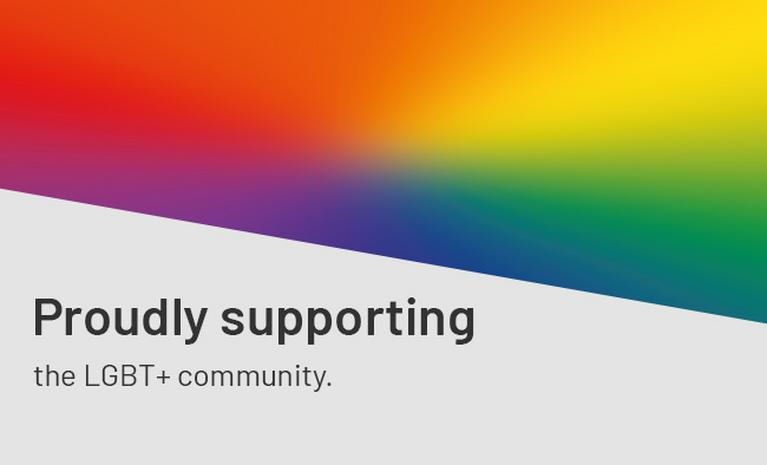 Proudly supporting the LGBT+ community.