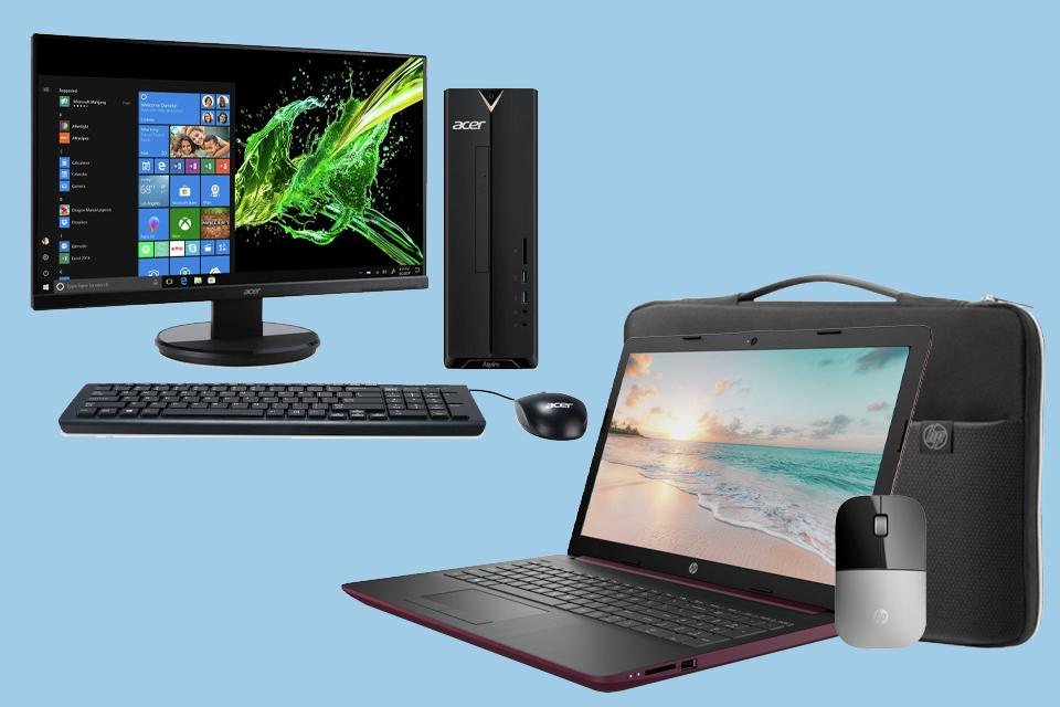 Argos desktop and laptop bundles.