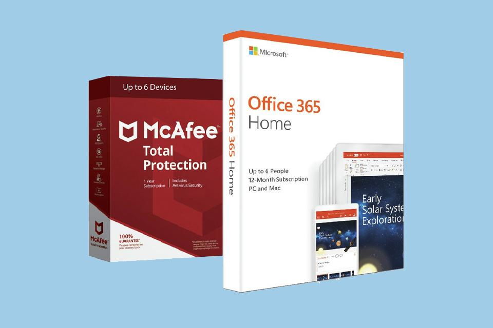 Office 365 (Now Microsoft 365) Home & McAfee 6 Devices.
