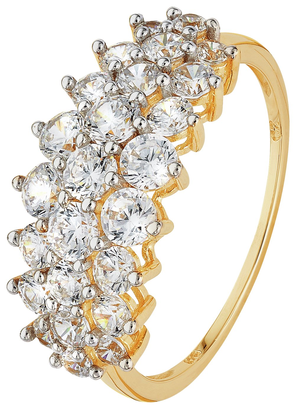 9-carat-gold-cubic-zirconia-elongated-cluster-ring