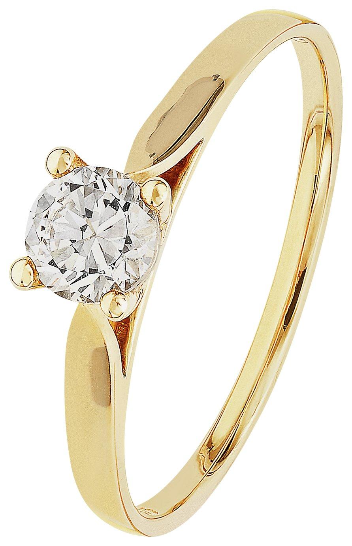 Buy Revere 9ct Gold Cubic Zirconia Solitaire Ring at Argos