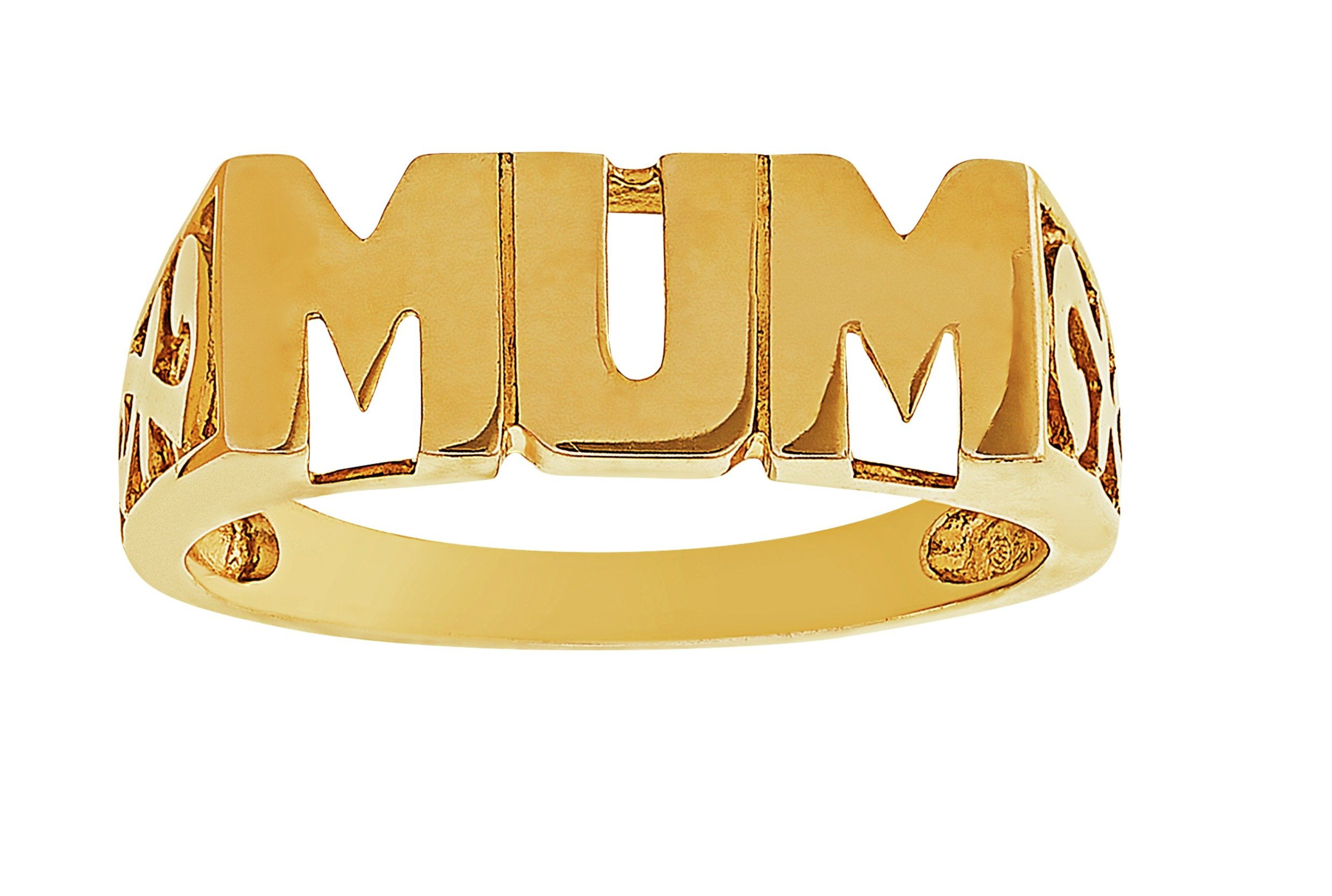 Image of 9 Carat Gold - Plated Silver 'Mum' Ring