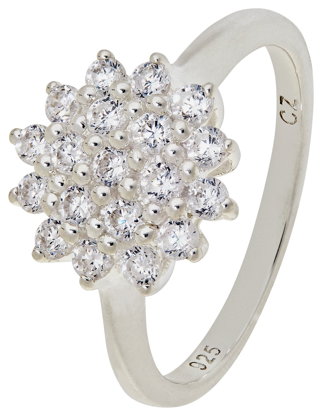 Revere Sterling Silver Cubic Zirconia Cluster Ring