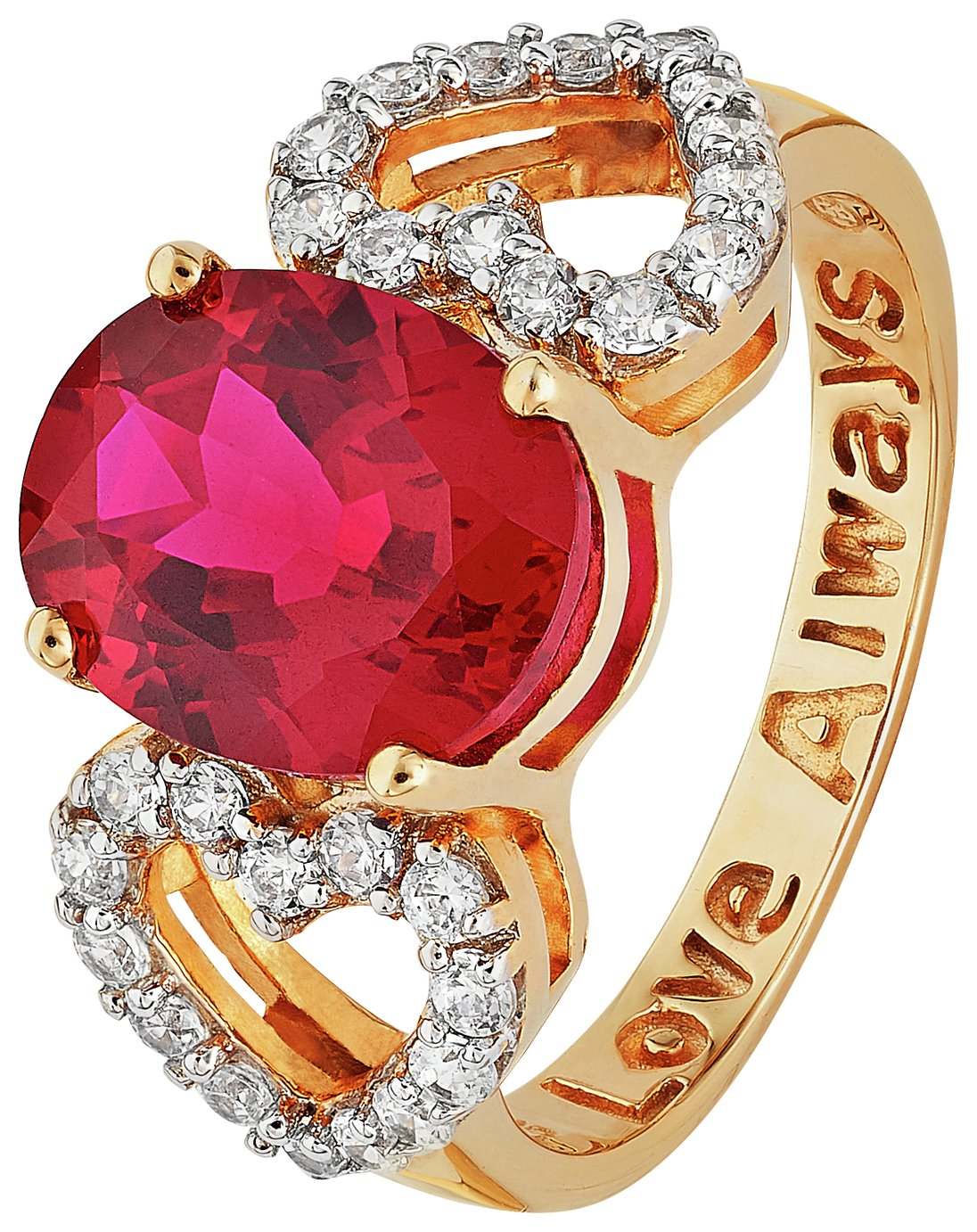 18 Carat Gold - Plated 'Love Always' Ring