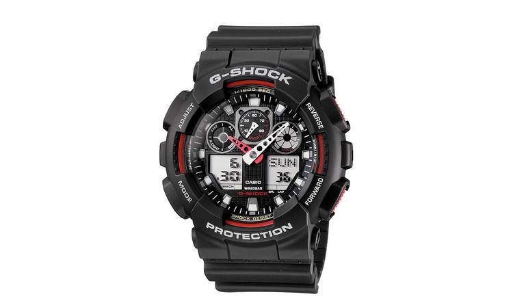 3e9721f5be15 Casio G-Shock Men's Black Resin Strap World Time Watch232/8852