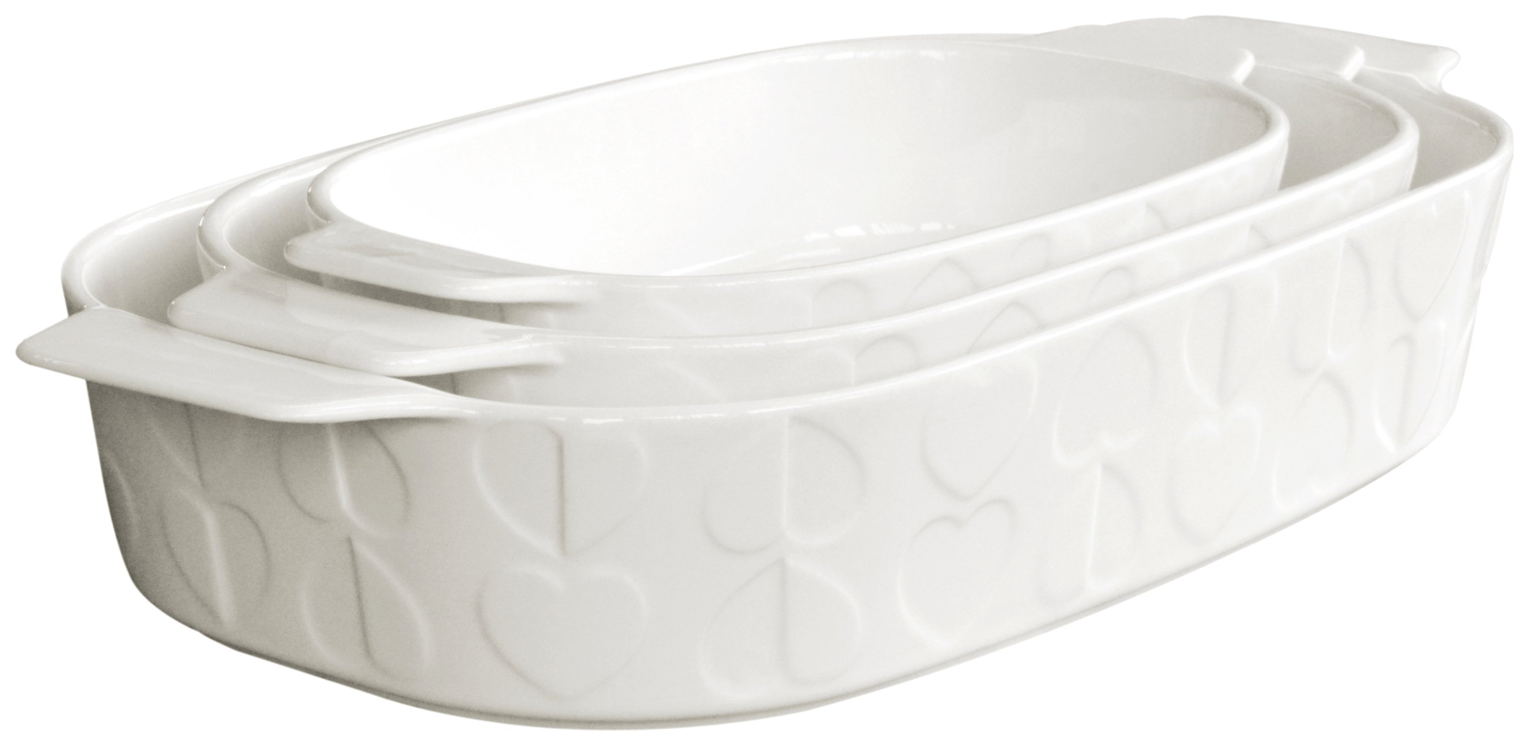 Image of Beau and Elliot - Embossed Oven Dishes - Set of 3