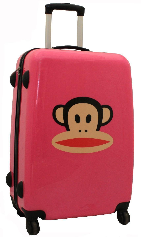 Buy Paul Frank Julius Monkey Large 4 Wheel Suitcase - Blue/Pink at ...