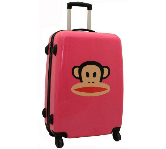 Buy Paul Frank Julius Monkey Large 4 Wheel Suitcase - Blue/Pink at ...