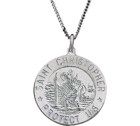 Buy revere sterling silver st christopher pendant mens necklaces click to zoom aloadofball Gallery