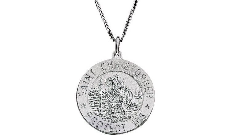 611ac5bf7d4 Buy Revere Silver St. Christopher Pendant 20inch Necklace | Men's ...