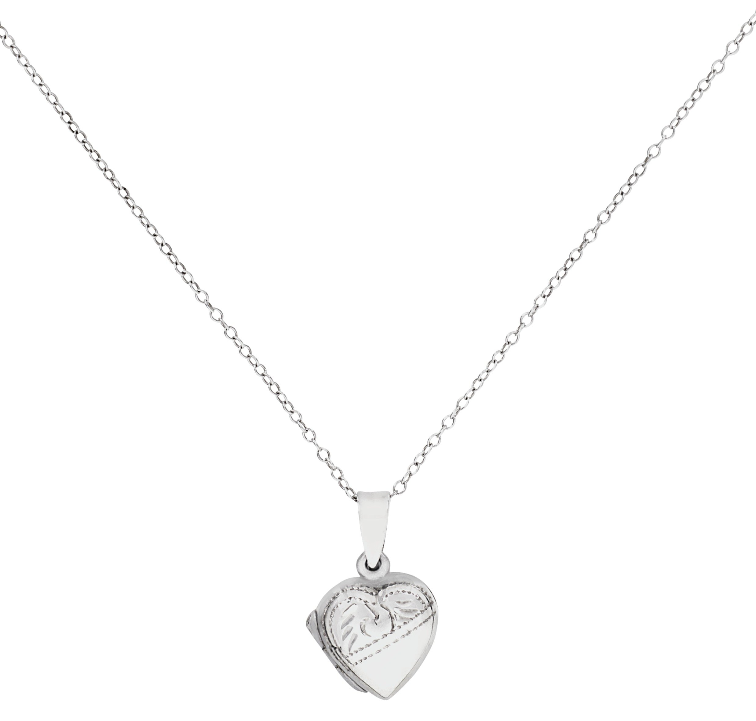 Moon & Back Sterling Silver Heart 2 Photo Locket