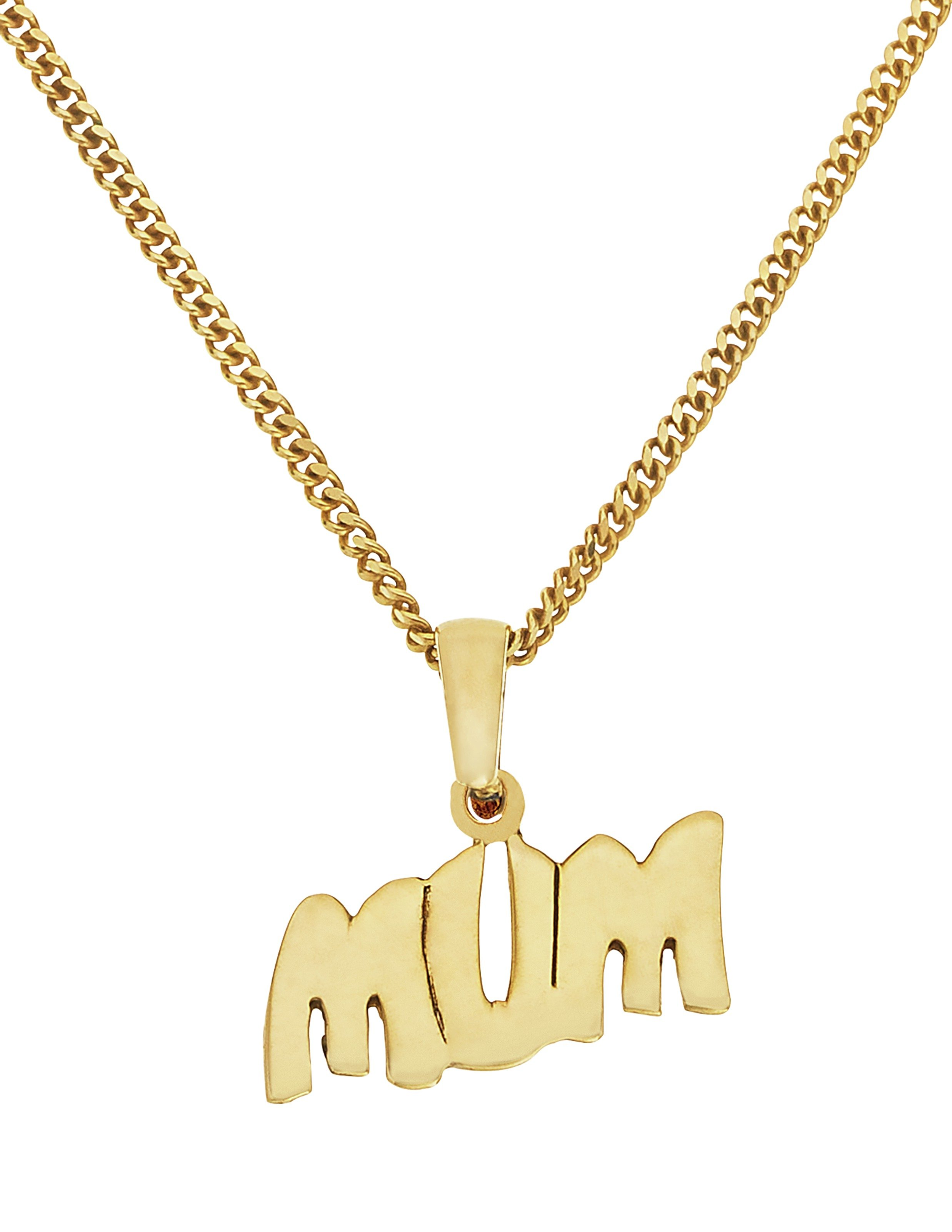 18 Carat Gold - Plated - Sterling Silver - 'Mum' Pendant.
