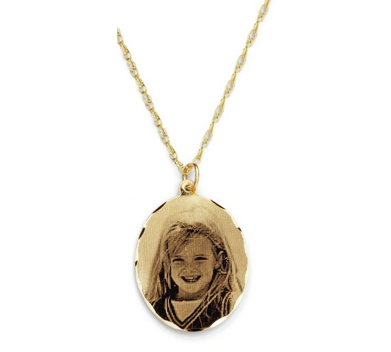 Buy moon back 9ct gold personalised holographic pendant ladies moon back 9ct gold personalised holographic pendant mozeypictures Images