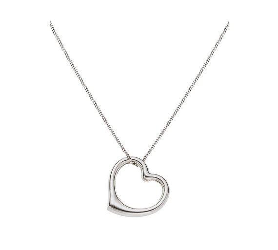 Buy revere 9ct white gold floating heart pendant at argos revere 9ct white gold floating heart pendant mozeypictures Image collections
