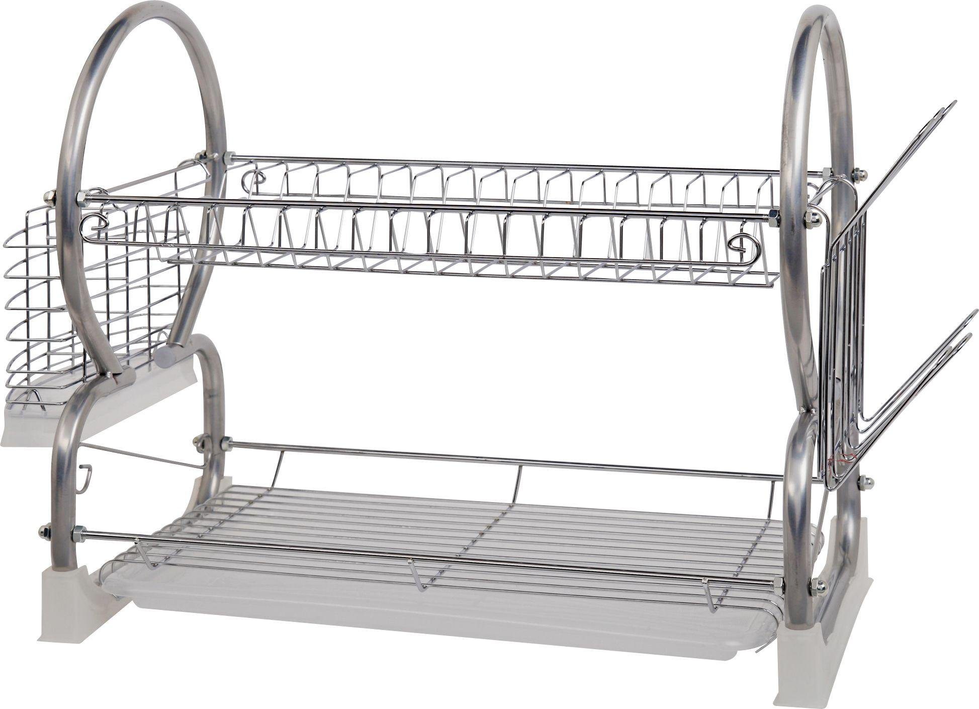 Image of HOME - 2 Tier Dish Rack - Silver