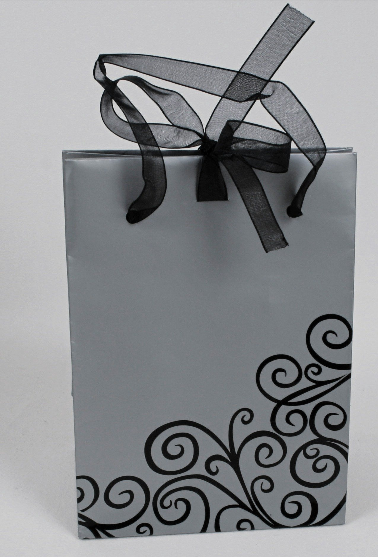 Image of Medium Black Swirl - Gift Bag