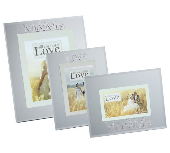 Buy Happily Ever After Set of 3 Mirror Photo Frames | Wedding gifts ...