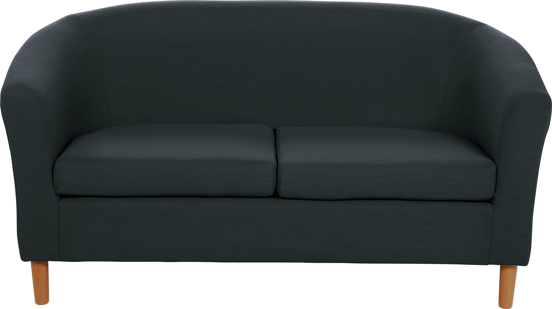 Habitat 2 Seater Fabric Tub Sofa - Black
