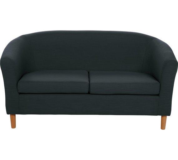 buy argos home 2 seater fabric tub sofa black sofas argos