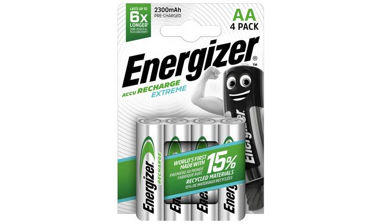 Energizer Extreme AA Rechargeable Batteries Pack of 4