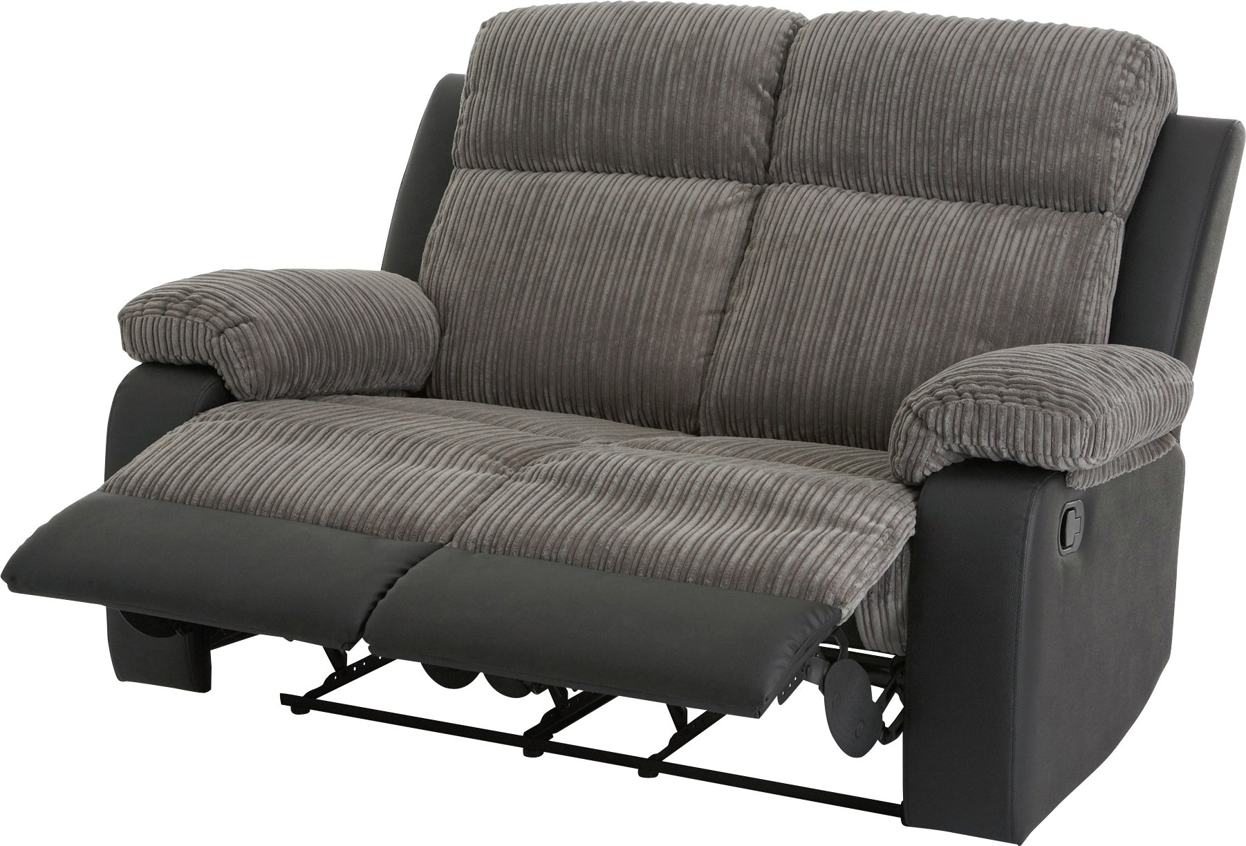 Collection Bradley Pair of 2 Seat Recliner Sofas - Charcoal