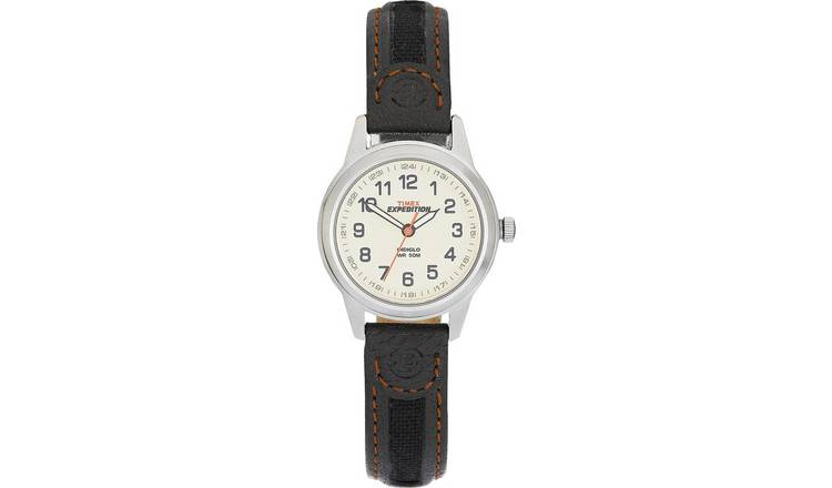 Timex Ladies Brown Leather Strap Watch