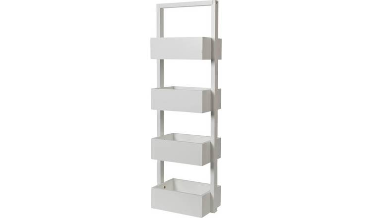 Argos Home Freestanding Bathroom Storage Caddy - White
