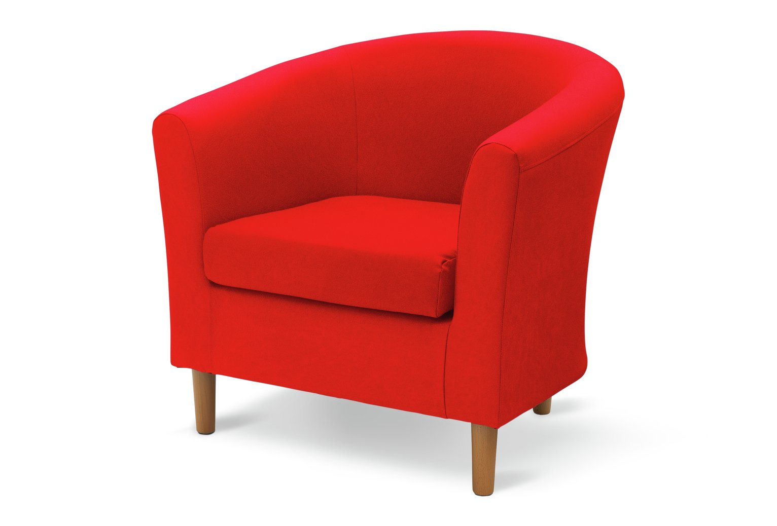 Argos Home Fabric Tub Chair - Red