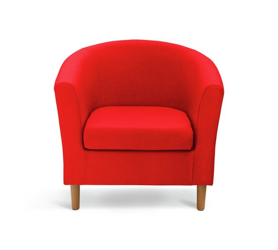 buy argos home fabric tub chair red armchairs and chairs argos